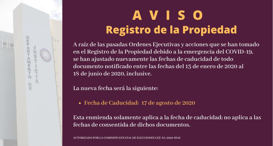 AVISO Registro Propiedad AGOSTO 17