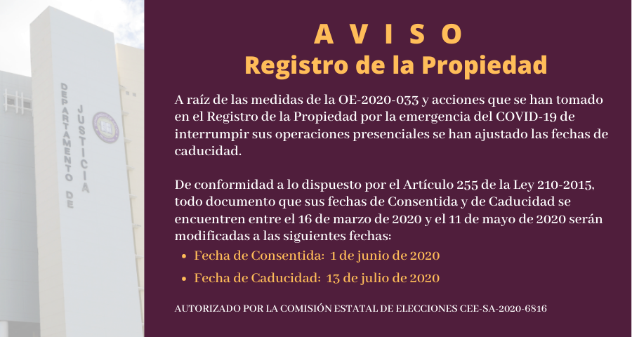 AVISO Registro Propiedad Web Banner