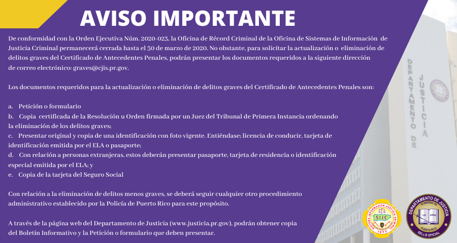 AVISO IMPORTANTE ELIMINACION DE RECORD