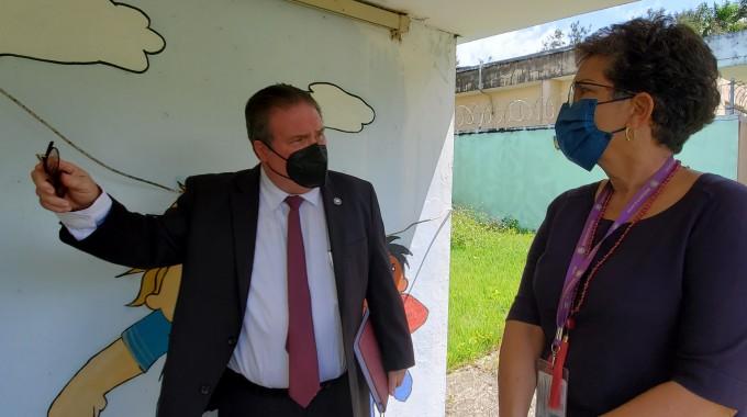 Secretario de Justicia realiza visita sorpresa al Albergue de Protección a Víctimas y Testigos